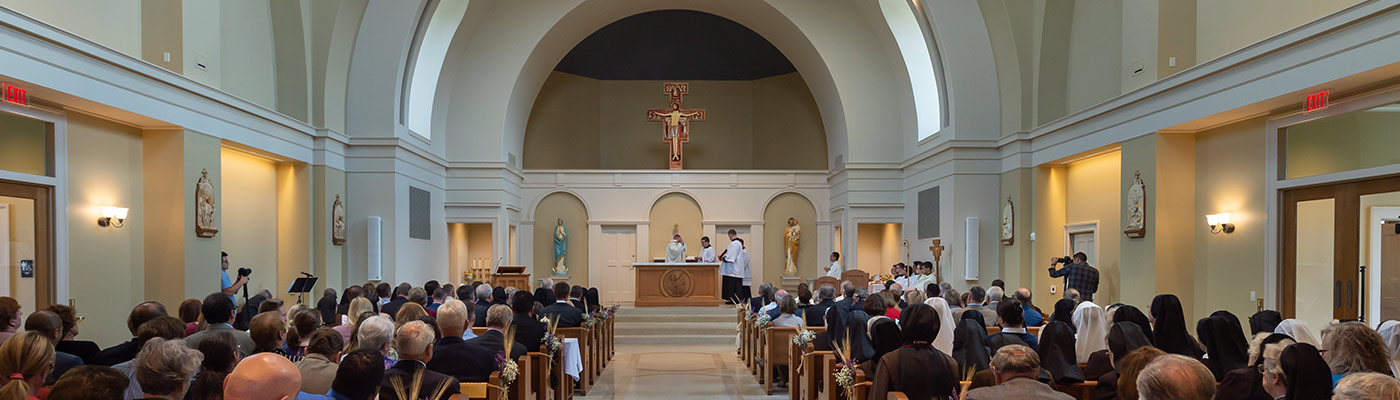 Mass in the new St. Francis Chapel.